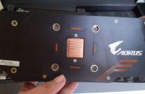 AORUS GeForce GTX 1060 backplate