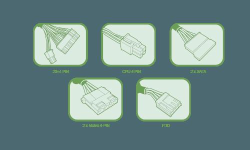 Tacens Anima APII500 conexiones incluidas