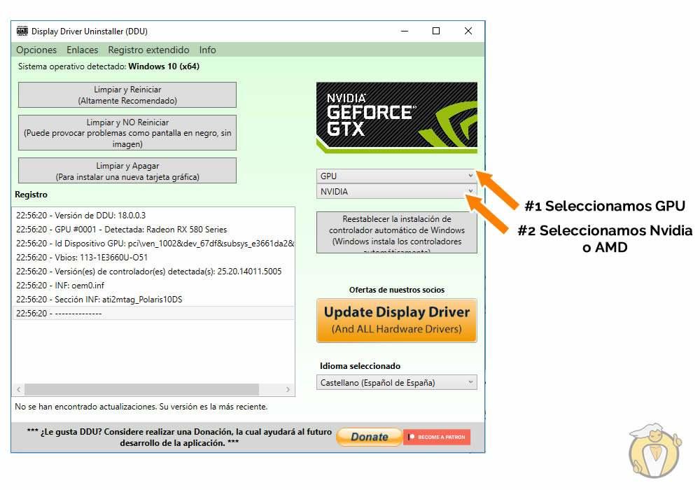Cómo desinstalar drivers Nvidia completamente y paso a paso en windows 10 paso 3